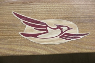NEW RV/MOTORHOME BLUEBIRD WOODEN WALL ACCENT PANEL SIZE: 32 x 10