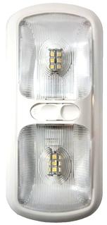 NEW ARCON 20712 SOFT WHITE 12V EU-LITE DOUBLE LED RV LIGHT W/ OPTIC LENS