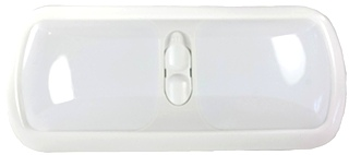 NEW ARCON 20714 SOFT WHITE 12V DOUBLE LED RV LIGHT W/ WHITE LENS