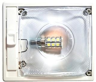 NEW ARCON 20715 SOFT WHITE 12V EC-LITE SINGLE LED RV LIGHT WITH OPTIC LENS