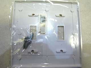 NEW RV/MOTORHOME TWO GANG WHITE DEEP SMOOTH EAGLE WALLPLATE