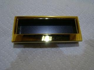NEW GOLD/BLACK BASIC PULL  HANDLE LENGTH:4 1/8