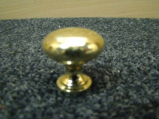 NEW BRIGHT BRASS HANDLE PULL KNOB  PRICE: $10.00 FOR 10