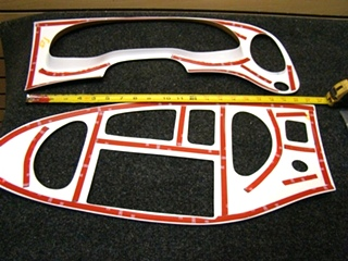 USED  WOOD DASH PANEL TRIM PLASTIC  KIT FITS:COACHES, C-CLASSES, & FORD E- SERIES VANS