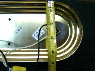 USED BRIGHT BRASS 2 BULB LIGHTING FIXTURE P/N:E110265 PRICE: $25.99
