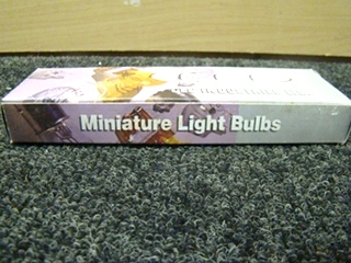 NEW RV OR HOME CEC INDUSTRIES MINIATURE LIGHT BULBS PRICE $6.99 FOR A BOX OF 10