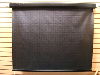USED RV/MOTORHOME INTERIOR ELECTRIC BLACK SUNSHADE PRICE $125.00