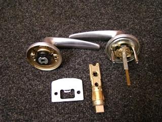 NEW RV OR HOME NICKEL TUBULAR DOOR KNOB LOCK W/LATCHBOLT