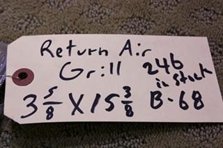 NEW RETURN AIR GRILL 3 5/8