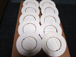 USED RV/MOTORHOME SET OF 10 WHITE CEILING VENT COVERS FOR SALE