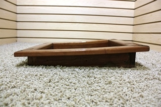 USED WOOD VENT FAN TRIM BLUE BIRD WANDERLODGE PARTS FOR SALE