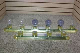 USED RV VANITY MIRROR LIGHT BAR SET FOR SALE