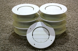 USED SET OF 9 ROUND CEILING VENT RV PARTS FOR SALE