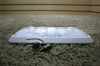 USED DOUBLE LENS RV CEILING LIGHT FIXTURE FOR SALE
