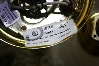 USED 2 GLOBE MOTORHOME CEILING LIGHT FIXTURE FOR SALE