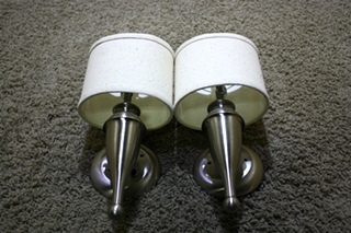 USED SET OF 2 WALL SCONCE RV LIGHT FIXTURES FOR SALE