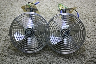 USED MOTORHOME CHROME CF-712 DASH FANS FOR SALE