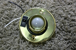 USED RV GOLD SWIVEL READING LIGHT MODEL: T2064 FOR SALE