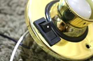 USED RV GOLD SWIVEL READING LIGHT MODEL: T2064 FOR SALE