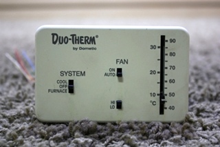 USED RV DUO-THERM BY DOMETIC 3107612.008 WALL THERMOSTAT FOR SALE