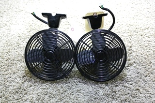 USED SET OF 2 BLACK RV DASH FANS FOR SALE