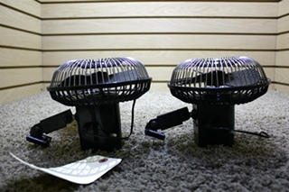 USED RV SET OF 2 ACAR DASH FANS FOR SALE