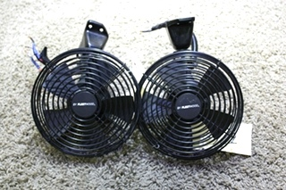 USED SET OF 2 756698 BLACK BY FLEETWOOD DASH FANS MOTORHOME PARTS FOR SALE