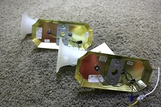 USED MOTORHOME SET OF 2 WALL SCONCE LIGHT FIXTURES FOR SALE