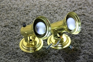 USED SET OF 2 READING LIGHT FIXTURES MOTORHOME PARTS FOR SALE