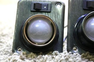 USED SET OF 2 SWIVEL READING LIGHTS INTERIOR RV PARTS FOR SALE