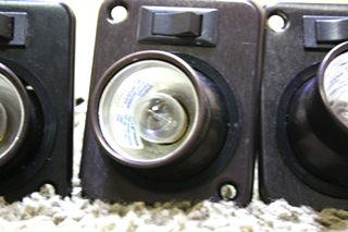 USED MOTORHOME SET OF 3 JRV SWIVEL READING LIGHT FIXTURES FOR SALE