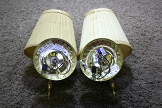 USED RV SET OF 2 INTERIOR WALL LIGHT FIXTURES FOR SALE
