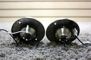 USED SET OF 2 SWIVEL READING LIGHT WITH ON/OFF SWITCH MOTORHOME PARTS FOR SALE