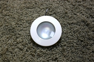 USED MOTORHOME CREAM LITECO 1651H PUCK LIGHT FIXTURE FOR SALE