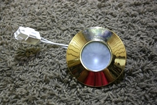 USED F33-9110BB GOLD INTERIOR PUCK LIGHT FIXTURE RV PARTS FOR SALE
