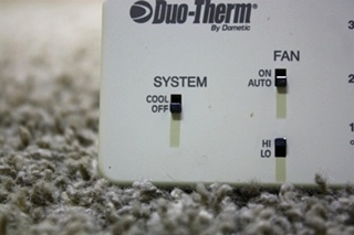 USED 3107612.008 DUO-THERM BY DOMETIC RV THERMOSTAT FOR SALE