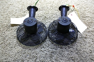 USED MOTORHOME SET OF 2 BLACK DASH FANS 3A00032 FOR SALE