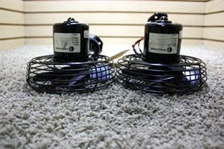 USED SET OF 2 BLACK BY FLEETWOOD RV DASH FANS FOR SALE