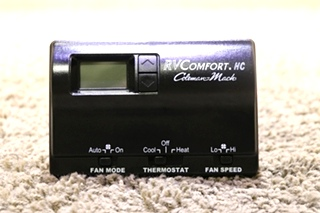 USED MOTORHOME 8330-348 RVCOMFORT.HC COLEMAN-MACH BLACK THERMOSTAT FOR SALE