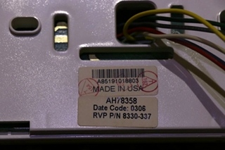 USED 8330-337 RVCOMFORT.HC WHITE COLEMAN-MACH RV THERMOSTAT FOR SALE