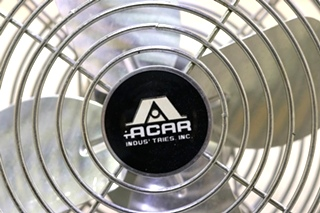 USED TWO SPEED ACAR FP-105L CHROME RV DASH FAN FOR SALE
