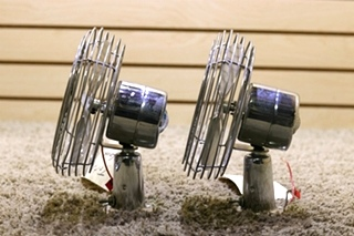 USED SET OF 2 CHROME MOTORHOME TWO SPEED FP-105L DASH FANS FOR SALE