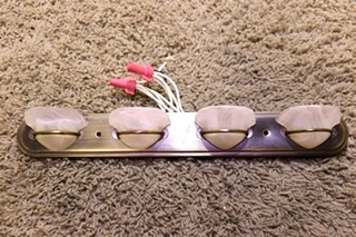 USED DECORATIVE 4 SCONCE VANITY LIGHT BAR MOTORHOME PARTS FOR SALE