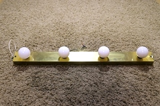 USED MOTORHOME 4 BULB 24 INCH RECTANGLE VANITY LIGHT BAR FOR SALE