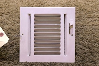 USED MOTORHOME WHITE SQUARE METAL CEILING VENT FOR SALE