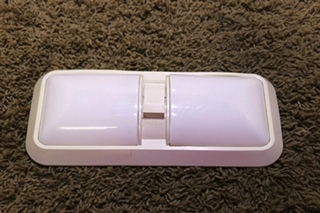 USED RV DOUBLE LIGHT CEILING LIGHT FIXTURE WITH ON/OFF SWITCH FOR SALE