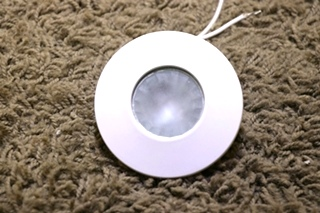 USED F33-9110W WHITE INTERIOR PUCK LIGHT MOTORHOME PARTS FOR SALE