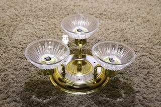 USED 3 SCONCE RV CEILING LIGHT FIXTURE FOR SALE