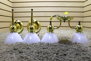 USED 3 PIECE RV INTERIOR LIGHT FIXTURE SET FOR SALE