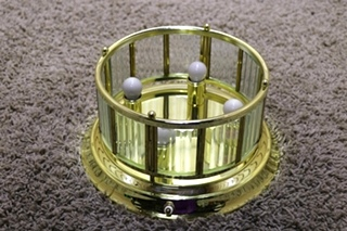 USED ROUND 3 BULB MOTORHOME CEILING LIGHT FIXTURE FOR SALE